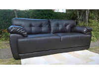 Ex-display 3 Seater Sienna Brown Leather Sofa