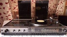 Vintage Philips AH 985 Stereo Music Centre Record Player, Cassette Radio & Speakers - perfect order
