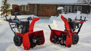 Toro Snowblowers Clearance Sale - 0% Financing starting at only $42 per Month or No payments, No Interest for 12 Months!