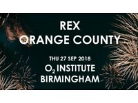 4x Rex Orange County standing tickets, O2 Institute Birmingham, Thursday 27th September 2018