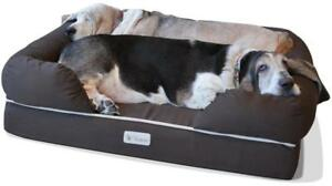 PetFusion Ultimate Dog Lounge & Bed. (Brown, 36 x 28 x 9.5). Premium Edition w/Solid 4""