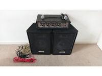 Meridian (HA-104M) 75 Watt RMS PA System / Amp, Speakers and 3 Mics