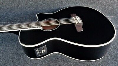 IBANEZ AEG1812II-BK 12 STRING Acoustic-Electric Guitar JET BLACK Fishman Pickup