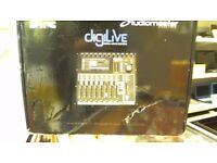 STUDIOMASTER DIGILIVE DIGITAL MIXING CONSOLE WITH 6 MONTHS WARRANTY