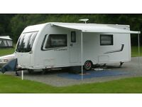 Lunar Clubman SB 4 berth 2013 touring caravan for sale. with EXTRAS and immaculate condition