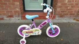 Girls Bike with stabilisers 12 inch wheels