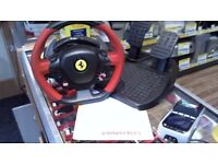 XBOX ONE FERRARI 458 SPIDER STEERING WHEEL AND PEDALS