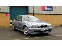 2003 (53) BMW 5 Series 520i ES SE Auto, Full Service History, 12months MOT, Full Black Leather