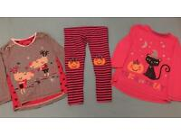 Girls Halloween Outfit and Christmas Top - Age 4-5