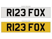 Number Plate - R123FOX