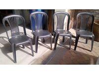 Plastic Patiio Chairs (4)