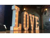 4ft lights: Hire LOVE / MR & MRS/ Numbers for wedding or party