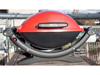 WEBER Q 100 Portable Gas BBQ Grill in red