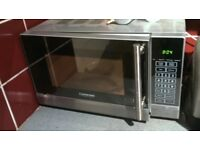 Cookwise 700 microwave, clean and working, aluminium