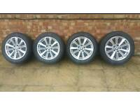 BMW 5 SERIES 2010 ALLOYS WITH TYRES