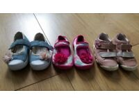 Baby girl summer shoes pumps size 3 19 pink floral bundle leather and fabric