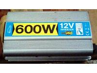 12v to 240 Volt INVERTER 600watt Plug in 240v power for your Van. Car, Motor Caravan, etc.