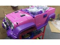 New 12V Pink Electric Kid On Ride Jeep Car with Parental Control M12
