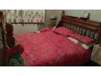 Solid Pine King Sized Bed With Drawers