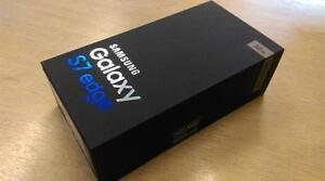 GALAXY s7 EDGE BLACK 32GB SEALED BOX NEVER OPENED COME OPEN BY YOURSELF