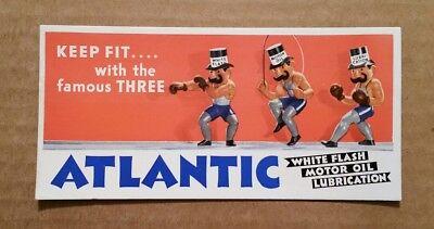 Atlantic White Flash Motor Oil,Ink Blotter,1930's