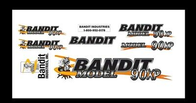 Brush Bandit Wood Chipper Model 90xp Decal Kit