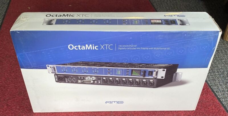 New RME Audio OctaMic XTC / 8-channel,24 bit,192 kHz Mic Preamp with Multiformat