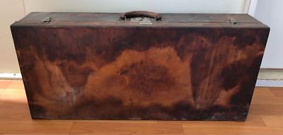 1800s Vintage LOUIS VUITTON LV Antique Leather Travel Trunk Case Briefcase Bag