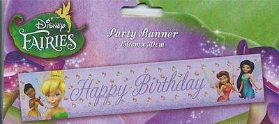 TINKER BELL GIANT BIRTHDAY PARTY BANNER ! Bigger & Better Size 150 X 30 CM (Best Birthday Banners)