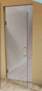 Beautiful Glass Shower Door with Hardware - New!