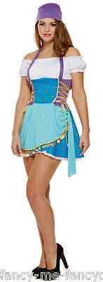 Damen Sexy Zigeuner Wahrsagerin Piraten Halloween Kostüm Kleid - Zigeuner Outfit