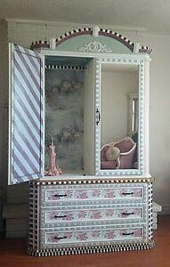 Hand-painted, Mackenzie-Childs Inspired Armoire Oakville / Halton Region Toronto (GTA) image 3