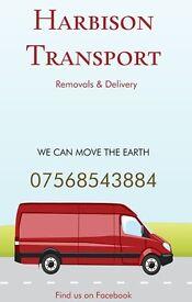 Harbison Transport,man with van,removals,rubble,van,truck,shed,cooker,table,garden,plumber