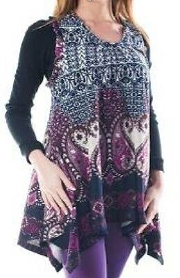 Tunika, LongShirt, Lange Bluse, Kurzkleid - Zipfelform - auch für Schwangere