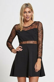Women's Skater Dress with Middle Mesh