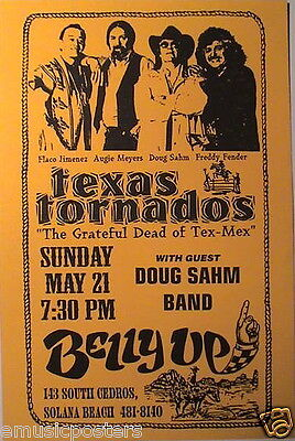 TEXAS TORNADOS 1995 SAN DIEGO TOUR POSTER - The Grateful Dead Of Tex-Mex Music - $14.99