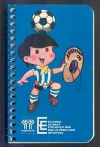 Argentina Soccer World Cup 1978 Note Book w Logo