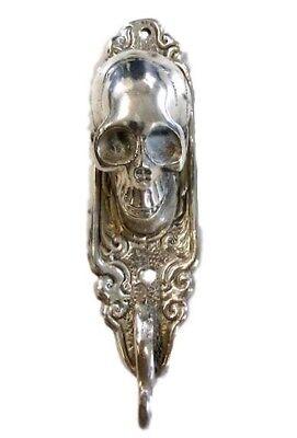 Skull Statue Figure Skeleton Bronze Metal Hook Ships Worldwide