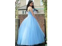 Blue prom dress (size 8)