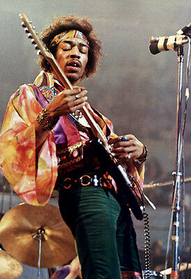 Jimi Hendrix Poster  Playing Guitar  Live In Concert