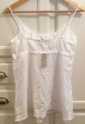 James Perse Cami Spaghetti Strap White Bohemian t shirt new tank top WLC3224 nwt ()