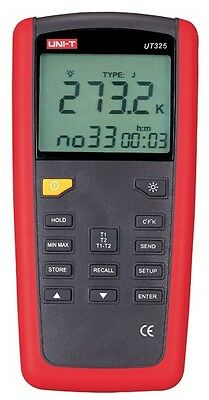 Digital Thermometer Dual-channel Input Thermocouple K J T E R S N Ut325 Usb