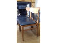 6no Mid Century (genuine vintage) dining chairs