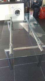 Glass Dinner Table for Sale - TABLE ONLY no Chairs