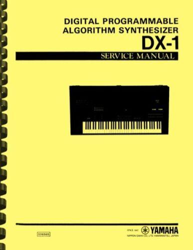Yamaha DX-1 Digital Synthesizer SERVICE MANUAL