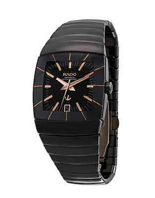 NWT Men's Rado Sintra R13663162 Automatic Black Ceramic & Rose Gold Tone Watch