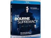 The Bourne Legacy, Bourne Supremacy, Bourne Ultimatum blu-rays