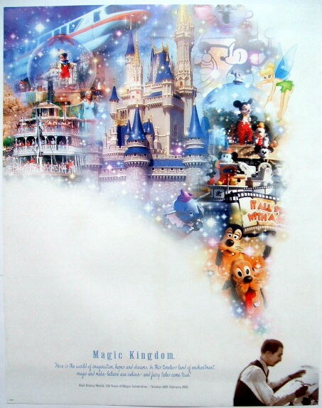 "WALT DISNEY WORLD SET OF 4 LITHOGRAPHS FROM THE ""100 YEARS OF MAGIC"" CELEBRATION"