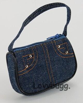 "Lovvbugg Dark Denim Purse Bag  for 18"" American Girl Doll Clothes"