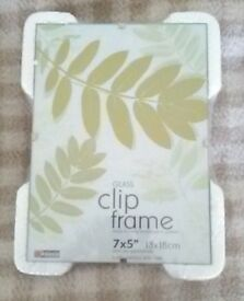 Glass Clip Frame - 7x5